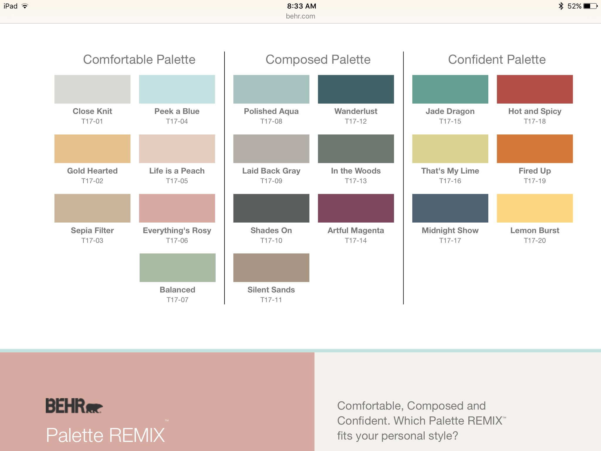 Real estate blog margaret streicher blog dallas golf homes for Paint color palette